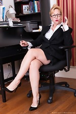 Badd Gramma strips naked in her office