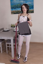 Cleo Dream is a sexy stripping cleaning lady