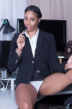 Dharma Grace strips naked at her office today