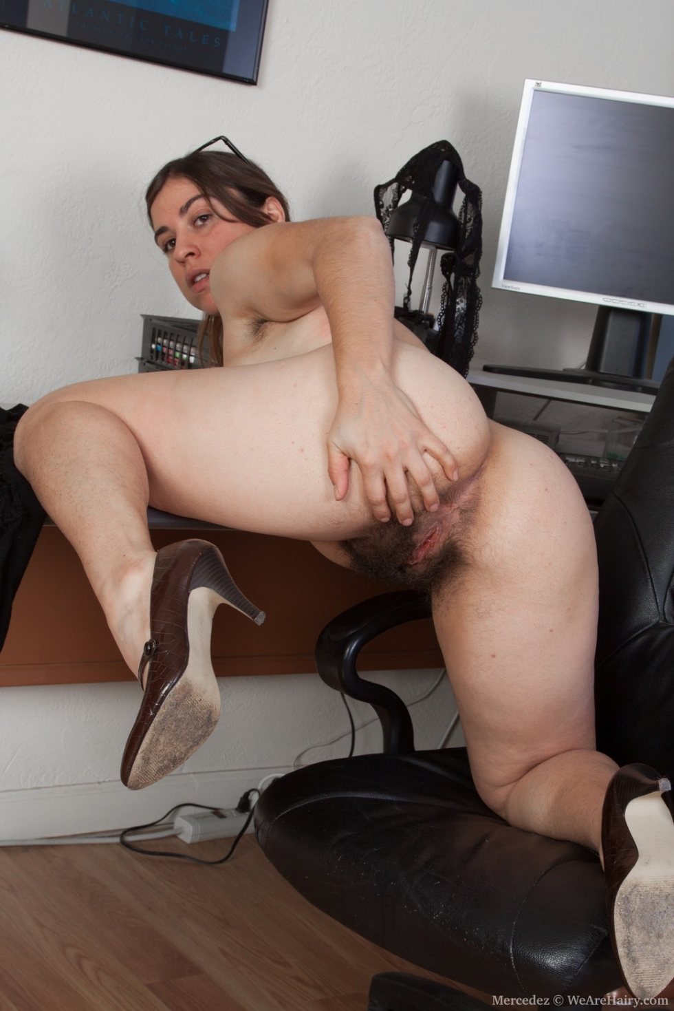 Naked pussy leather chair