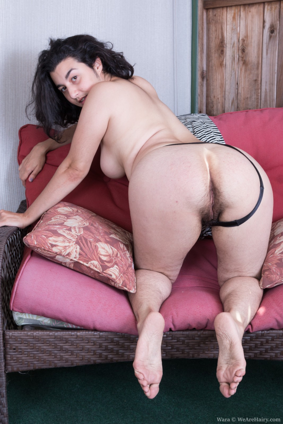 Wara strips naked to show her hairy body off today - 2 part 10